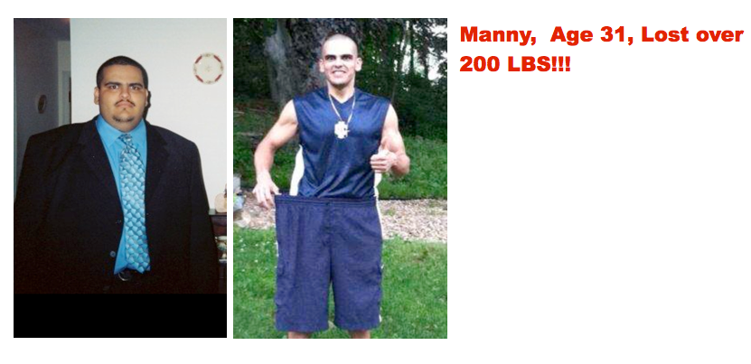 manny testimonial before:after