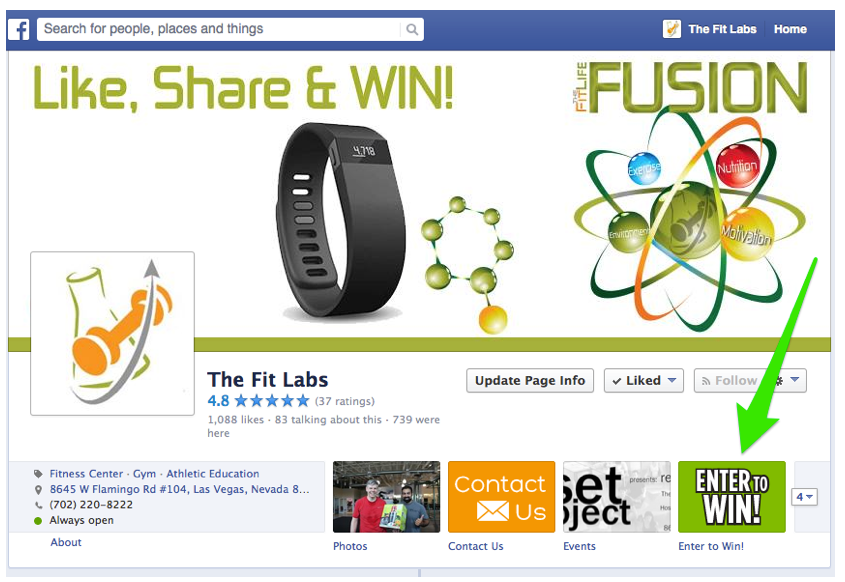 Enter The Fit Labs monthly giveaway contest on our facebook page!